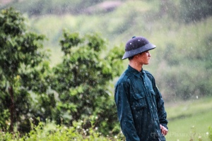A chill-out moment of an ethnic young man in the North of Vietnam