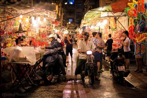 Lantern street, after the rain